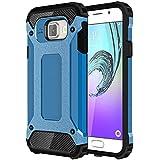 Galaxy A3 2016 Funda, Pasonomi® [Pesada] [Doble Capa] Carcasa de Protección Hibrida Armadura Funda para Samsung Galaxy A3 2016, Azul