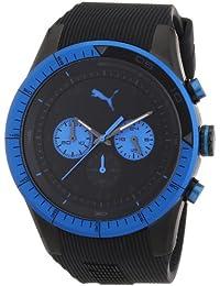 Puma Motorsport Fast Track Unisex Quartz Watch with Black Dial Chronograph Display and Black Plastic or PU Strap PU102821002