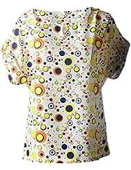 Tongshi Moda blusas de las mujeres Venta caliente ocasional de la flor impresión de la gasa tropical