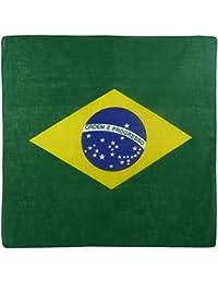 Mens Ladies Boys Brazil Flag Bandana Bandanna Samaba Rio Carnival Sugarloaf Mountain