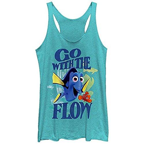 Disney Pixar Finding Dory Flow Juniors Racerback Tank Top Blue