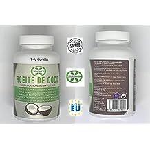Capsulas de aceite de coco ayuda a reducir el hambre y la ansiedad por comer – aceite de coco para lucir tu piel, pelo y uñas fuertes y sano – 100 capsulas ...