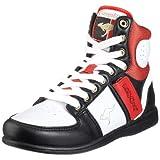 KangaROOS Swish-Hi-Multi 31220, Damen Sportschuhe - Basketball, schwarz/dunkel, (wht/blk/zinnober 054), EU 39