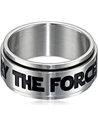 Star Wars May The Force Be You stainless steel anillo giratorio con