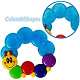 Guru Kripa Baby Products™ Presents BPA-Free Non Toxic Toddler And Infant Baby Silicone Tooth Gel Sooter Teether Keys Ring Teething Toys For Baby Rattle Toy Textured Water Filled Make Relax For Baby (Multi)