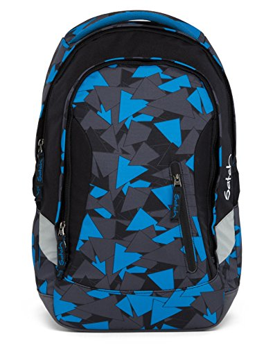 satch Sleek Blue Triangle 2-teiliges Set Rucksack & Triple Flex schwarz