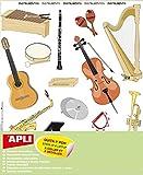 Gommettes - Instruments de musique x 51 - APLI AGIPA