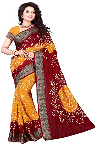 Color TrendsCotton Art Silk Saree With Blouse (Ctrpfb002_Multi-Coloured)