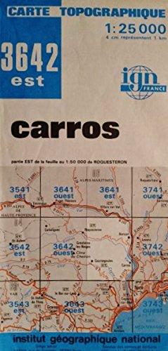 Carros, n° 3642 est, échelle : 1cm = 250 mètres
