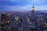 Posterlounge Acrylglasbild 120 x 80 cm: New York City Skyline von Marcel Schauer - Wandbild, Acryl Glasbild, Druck auf Acryl Glas Bild