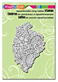 "Stampendous Cling Stamp 6.5""""X4.5""""-Live Each Day"