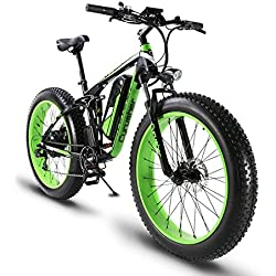 1000W 48V 13A Eléctrico Off Road Bike Extrbici XF800 Electric ATV Limited Selling Worldwide Carga USB Soporte Suspensión completa y Smart Code Table & Fat Tire 26 x 4.0