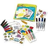 Crayola - Mon premier coffret de coloriage et de gommettes - Loisir créatif - Mini Kids - à partir de 1 ans - Jeu de dessin e