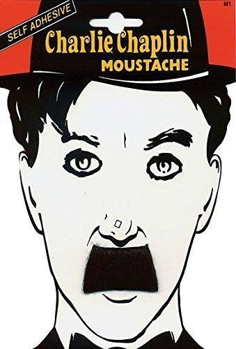 Charlie Chaplin False Herren Fake Schnurrbart, selbstklebend, Kostüm-Zubehör (Charlie Chaplin Kostüm Kinder)