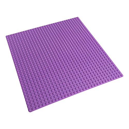 Katara 1672 - Platte Bauplatte 100% Kompatibel Lego, Sluban, Papimax, Q-Bricks, 25,5cm x 25,5cm / 32x32 Pins, Lila