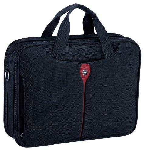 "Kross Precision 15"" Business Laptop-Tasche ""Top Load Classic"" – Tragetasche für Laptops / Notebooks / Netbooks – Schwarz, rot"