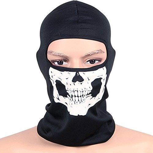 Sturmhaube Totenkopf Sturmmaske für Männer Damen Balaclava Gesichtshaube Motorradmaske Skimaske Windschutz Atmungsaktiv Kopfhaube Gesichtsmaske für Snowboard Motorrad Skilaufen Motorrad Radfahren