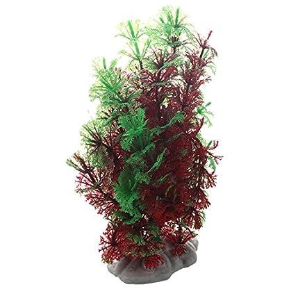 SODIAL(R) Artificial Fish Tank Water Tropical Plastic Aquarium Plants Ornament Green Decor 2