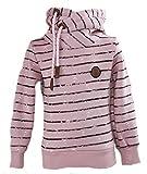 SQUARED & CUBED Mädchen Hoodie Kapuzenpullover Sweatshirt Anker Rosa