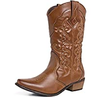 SheSole Ladies Western Cowboy Cowgirls Boots Tan Size UK 6