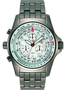 Torgoen - T1 04 01 B04 - Montre d'aviateur Homme - Quartz analogique - Bracelet Titane