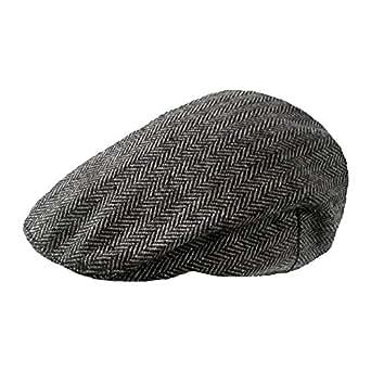 TOSKATOK Mens Tweed Flat Caps-GREYHERR-SM