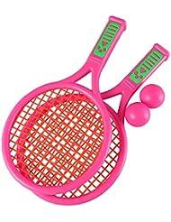 c28c7875c LIOOBO 1 par Raquetas de Tenis para Niños Juguete de Raquetas de Badminton  ...