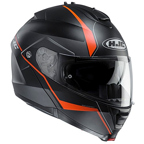 HJC Is-Max 2 Mine Motorrad Roller Klapphelm Mc7Sf Schwarz Orange XXL(63-64cm)