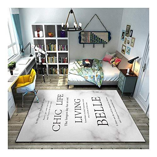 ch Schwarz Schrift Auf Weiß 3D Gedruckt Teppich Mit Hoher Dichte Geeignet für Familie Wohnzimmer Schlafzimmer, 160 cm (H) X 240 cm (W) ()