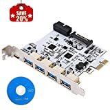 LATTCURE PCI Express Card PCIE to Type A(4-Port) &Type...