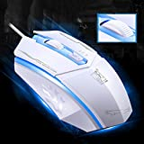 The Spotlight Leopard 199 3 Buttons 1600 DPI 4D Wired Game Mouse High-End Desktop Notebook Mouse For Laptop CF Wow FPS LOL White
