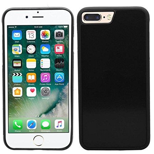 Samrick anti Gravity Nano-suction chocs absorbant Coque pour Apple iPhone 7Plus–Noir Noir