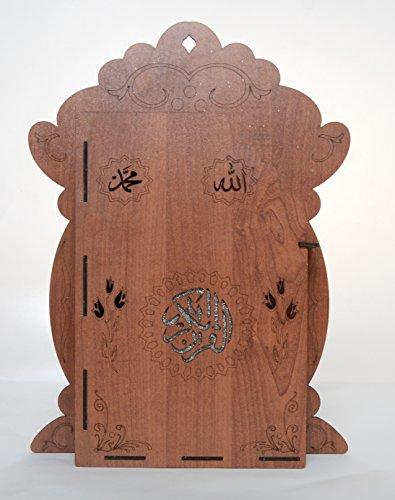 Kurani Kerim Kabi – Hediyelik – Koran Wandbox aus Holz