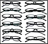 Best Style Eyes Quality Reading Glasses - Reading Glasses Wholesale Lot of 12 Pair-Black Plastic Review