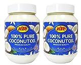 KTC - Aceite de coco puro - Para la piel y el cabello o para cocinar - Bote de 500 ml - Pack de 2 unidades
