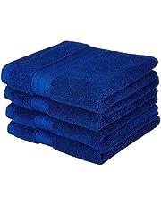 Amazon Brand - Solimo 100% Cotton 4 Piece Hand Towel Set, 575 GSM