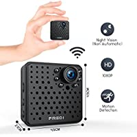 FREDI Wifi Mini Hidden Wireless Spy ip camera 1080p HD Security Surveillance Camera with Night Vision,Motion Detection for iPhone/Android Phone/iPad Remote View(support 128G SD card,NOT INCLUDE)