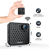 FREDI Wifi Mini Hidden Wireless Spy ip camera 1080p HD Security Surveillance Camera with Night Vision,Motion Detection for iPhone/Android Phone/ iPad Remote View(support 128G SD card,NOT INCLUDE)