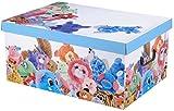 45Liter-Kartons mit Deckel & Griffe für Spielzeuge, Jeansmotiv Toy Animals