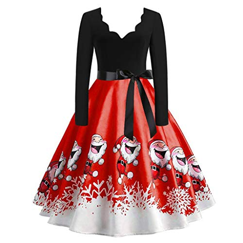 ZODOF Vestido navideño Vintage