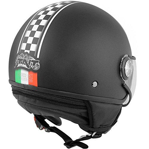 tnthe 441729a auricular 1/2Jet Puck Cafe Racer Italia, talla XS)