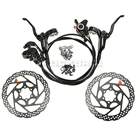 SHIMANO BR-BL-M355 Hydraulic Brake Set Front & Rear RT56 160mm Rotors (Black)
