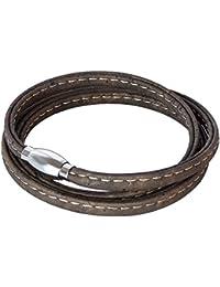 SIMARU - Cork Wrap Bracelet - Vegan bracelets for men - Made of Cork & magnetic Stainless Steel clasp- Vintage jewelry for Men and Women