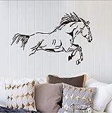 Une génération de stickers muraux décoratifs 90 * 58cm2pcs de chambre à coucher de salon de cheval Mercedes-Benz monochromes