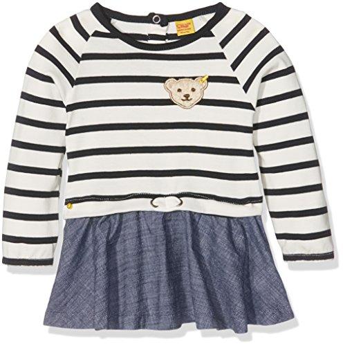Steiff Baby-Mädchen Kleid 1/1 Arm, Blau (Marine 3032), 74