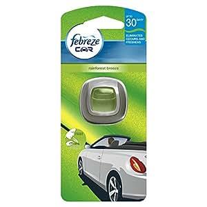 Febreze Clip-on Car Air Freshener Starter Kit Rainforest Breeze, 2 ml