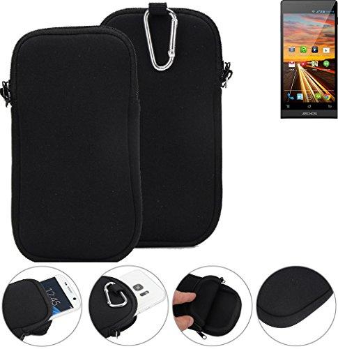 K-S-Trade Neopren Hülle für simvalley Mobile Pico RX-484 Schutzhülle Neoprenhülle Sleeve Handyhülle Schutz Hülle Handy Gürtel Tasche Case Handytasche schwarz