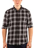 #8: Zotory Mens Casual Full sleeve cotton Checkered shirts Black Color (123)