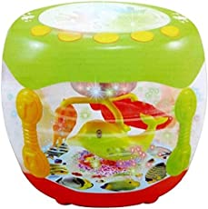 YeeHaw Wonder Land Merry-Go-Round Musical Drum with 10 Songs ,3 Stories ,16 Types of Different Music,3 D Lights & Feather Touch Buttons