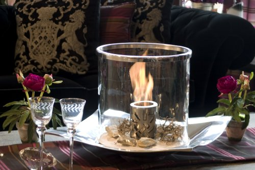*Feuerschale Tischfeuer Zimmerfeuer Glasfeuer CAROLINE*